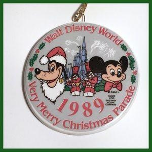 Mickey & Goofy 1989 Vintage Christmas Ornament